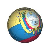 Equator football — Stock Photo