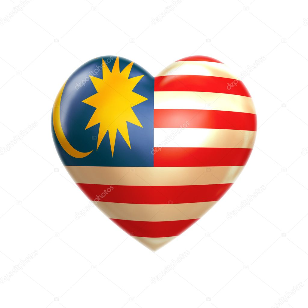 Malaysia heart — Stock Photo #2607735