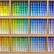 Paint chip color spectrum - Zdjcie stockowe