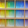 Stock Photo: Paint chip color spectrum