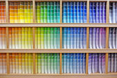Paint chip color spectrum — 图库照片