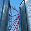Stock Photo: Feed mill silos
