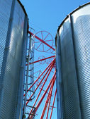Feed mill silos — Stock Photo