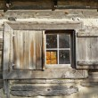 Nineteenth century cabin window — Stock Photo