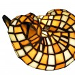 Antique stained glass cat lamp — Stock Photo #2113224