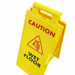 Wet floor signage isolated on white — Stock Photo