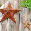 Metal stars wall decoration concept — Stock Photo