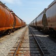 Train cars and rail perspective — Stock Photo #2123582