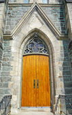 Nineteenth century church door — Stock Photo