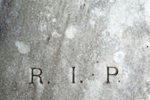 R.I.P. lettering on vintage grave — Stock Photo