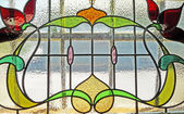 Vintage stained glass — Stock Photo