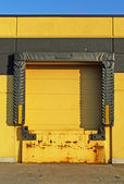Yellow loading dock — Stock Photo