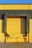 Yellow loading dock — Stock Photo
