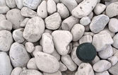 One stone standing out — Stock Photo