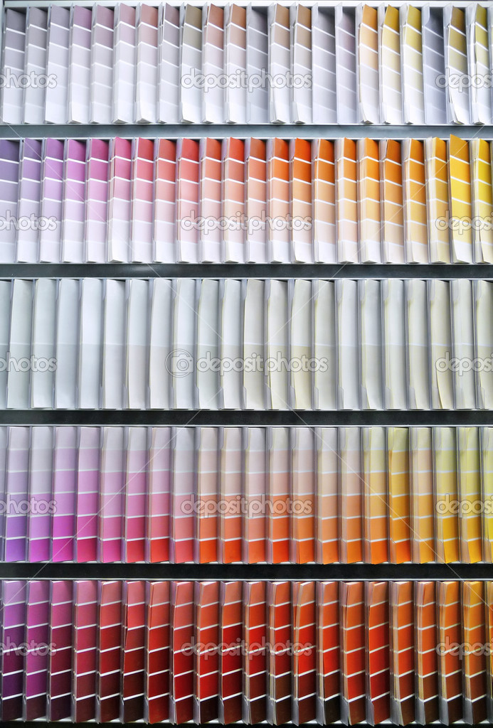 Background image of a paint swatch color spectrum — Stock Photo #2126184