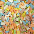 Colorful candy building blocks — Stock Photo