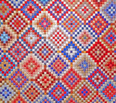 Colorful quilt detail — Stock Photo