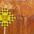 Dead end sign with rusted metal — Stock Photo