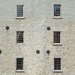 Old mill twelve windows - Stock Photo