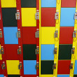 Stock Photo: Colorful storage lockers abstract