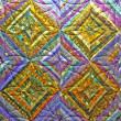 Colorful quilt detail background — Stock Photo