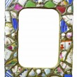 Broken chinand ceramic picture frame — Stock Photo #2191513