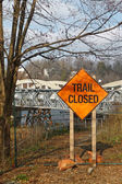 Trail closed sign — Stock Photo