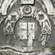 Vintage gravestone detail Holy Bible — Stock Photo #2384211