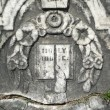 Royalty-Free Stock Photo: Vintage gravestone detail Holy Bible