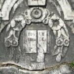 Vintage gravestone detail Holy Bible — Stock Photo #2384211