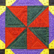 Stock Photo: Quilt detail abstract
