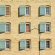 Windows and shutters background — Stock Photo