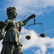 Statue of Lady Justice in Frankfurt — Stock Photo