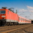 Red Passenger Train — Stock Photo