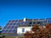 Solar (photovoltaic) panels — Stock Photo