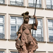 Stock Photo: Statue of Minervin Frankfurt