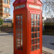 Stock Photo: Red British Telephone Box