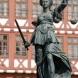 Statue of Lady Justice, Frankfurt - Stock Photo