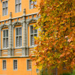 Palace and Autumn Leaves - Stock Photo