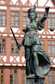 Statue of Lady Justice, Frankfurt — Stock Photo