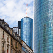 Old and new architecture in Frankfurt - Stock Photo