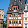 Half-timbered house in Frankfurt - Stock Photo