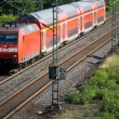 Double-decker German Train — Stock Photo