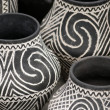 White black pottery vase - Stock Photo