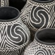 Stock Photo: White black pottery vase