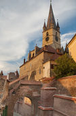 Gothic evangelical church sibiu — Stock Photo