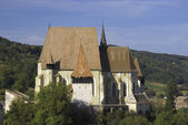 Fortified church defense wall tower — Stock Photo