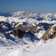 Stock Photo: Mountain ski slope on glacier austria