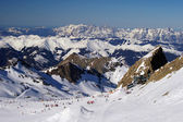 Mountain ski slope on glacier austria — Stock Photo