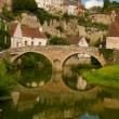 Medieval town in france - Stock Photo